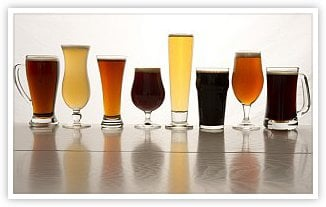 Beer Styles in Various Glasses