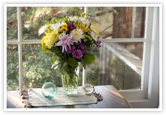 Bouquet near window