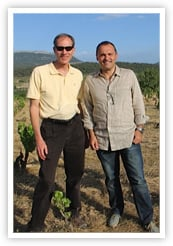 Don with Joseph Grau of Cellar Dosterras at His Vineyard in Montsant