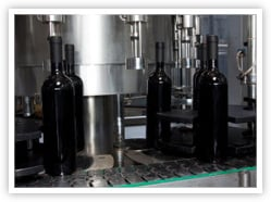Wine On the Bottling Line